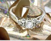 10K WHITE GOLD CUBIC ZIRCONIA LADY'S RING SZ.7